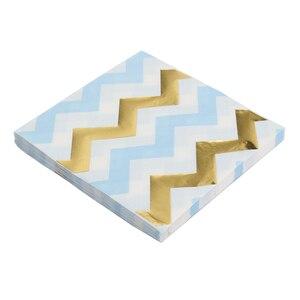 Image 5 - 20ピース/ロットローズゴールドドット紙ナプキン使い捨てパーティー食器のための性別明らかパーティー用品装飾ナプキン