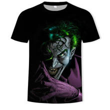 Fashion 2019 new super cool T-shirt men's and women's 3d t-shirts printed with suicide 3d clown short-sleeved summer shirt t-shi(China)