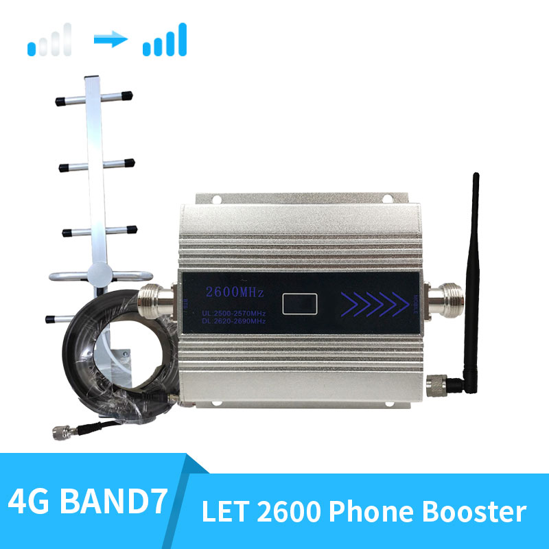 2600mhz Band 7 Cellular Signal Booster 2600mhz 4G LTE Mobile Network Booster 4G 2600 Cellular Phone Repeater Amplifier 2600 Gsm
