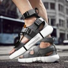 Unisex Height Increase High Top Sandals Men Gladiator