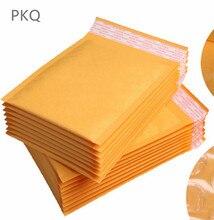 Gorąca sprzedaż 30 sztuk żółty Kraft z pianki torebka kopertówka różne specyfikacje Mailers wyściełane wysyłka koperta z Bubble torebka wysyłkowa