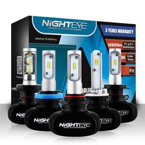 Nighteye Led H4 H7 H8 H9 H11 8000LM 50W 6500K Car LED Headlights White Fog Lamps 9005 HB3 9006 HB4 Fog Light Bulbs(China)
