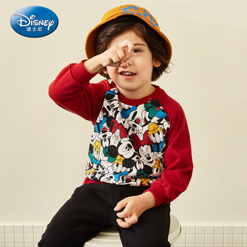 Disney Baby's Children's Wear Children's and Boys' Knitted Turtleneck Dress Suit 2019 Autumn New Two-Piece Western Style