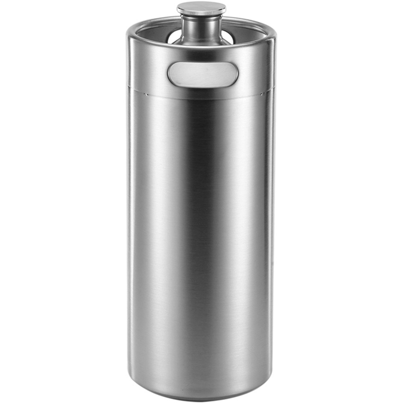 ELEG-4L Stainless Steel Growler Mini Keg Beer Growler Leak Proof Top Lid Beer Bottle Home Brewing Making Bar Tool
