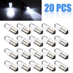 20 pces t11 t4w ba9s h6w 1895 1smd led 12v carro turn signal luz do painel lâmpada 8000k super brilhante branco lâmpadas de iluminação conjunto