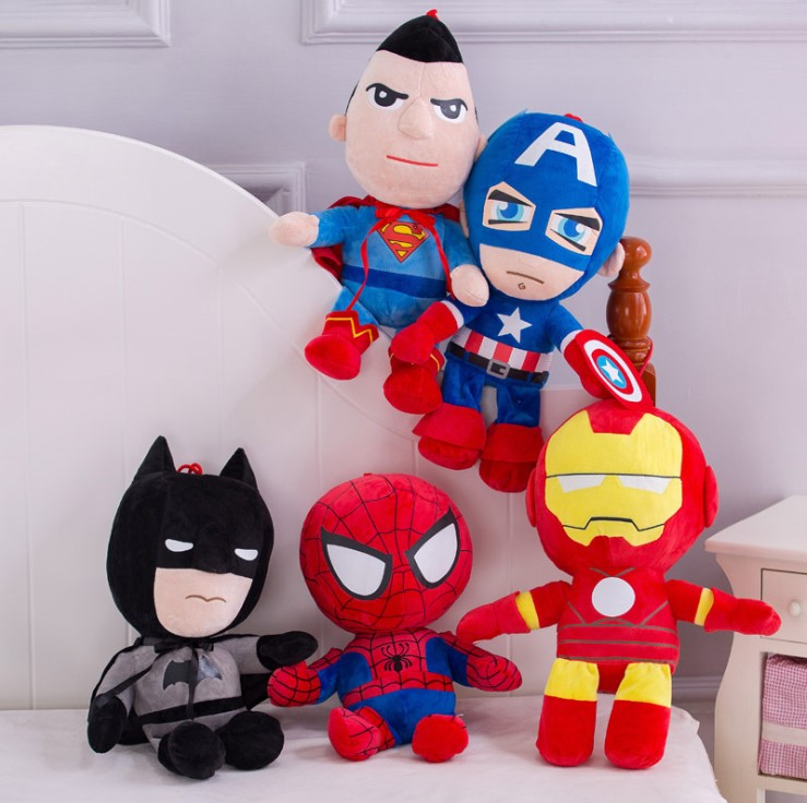 28cm Marvel Avengers 4 Superhero All Staff Plush Toy Dolls Captain America Ironman Iron Man Spiderman Loki Thor Plush Soft Toy
