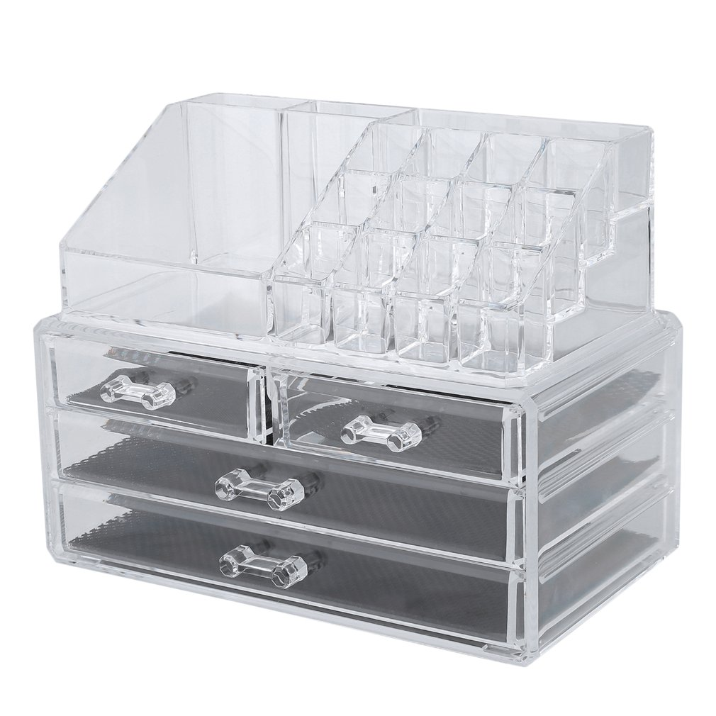 24x15x18.6 Large Plastic Stotrage Box Organizer Multifunction Drawer Lipstick Display Stand Cosmetic Jewelry Boxes And Packaging