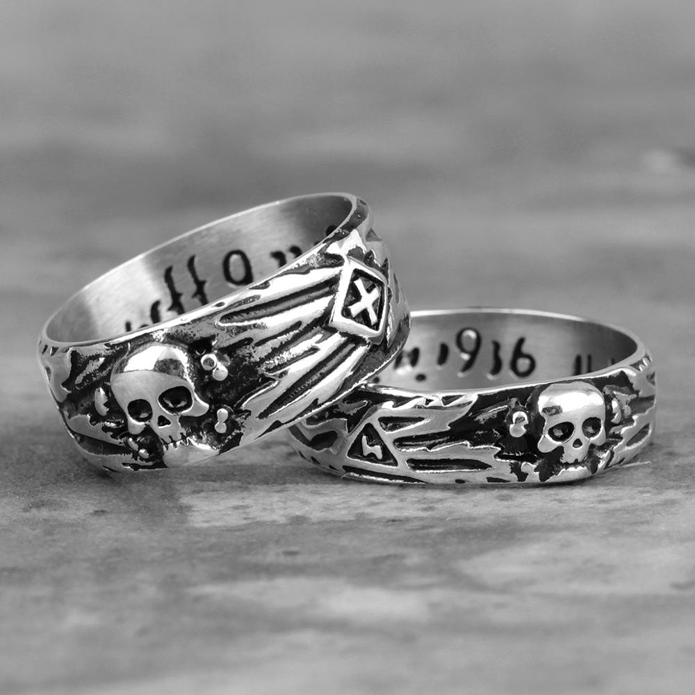 Stainless Steel Men Rings Domineering Skull Devil Punk Gothic HipHop Simple for Biker Male Boy Jewelry Creativity Gift Wholesale image