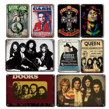 Vintage Pop Rock Band Metal Signs Music Singer Poster Home Bar Personalized Wall Decoration Bedroom Wall Sticker Creative Gifts