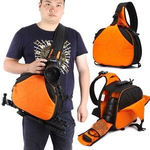 Image 5 - 사진 방수 삼각형 슬링 크로스 바디 남성 여성 소프트 패딩 카메라 어깨 가방 여행 캐주얼 삼각대 가방 디지털