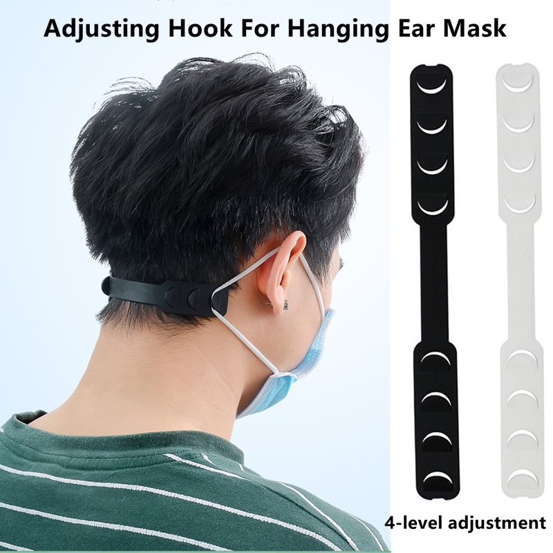 Adjustable Mask Lanyard Mask Extension Belt Bandage Mask Hook Ear Rope Relieves Ear Pain Prevention Scratch Mask Silicone Hook