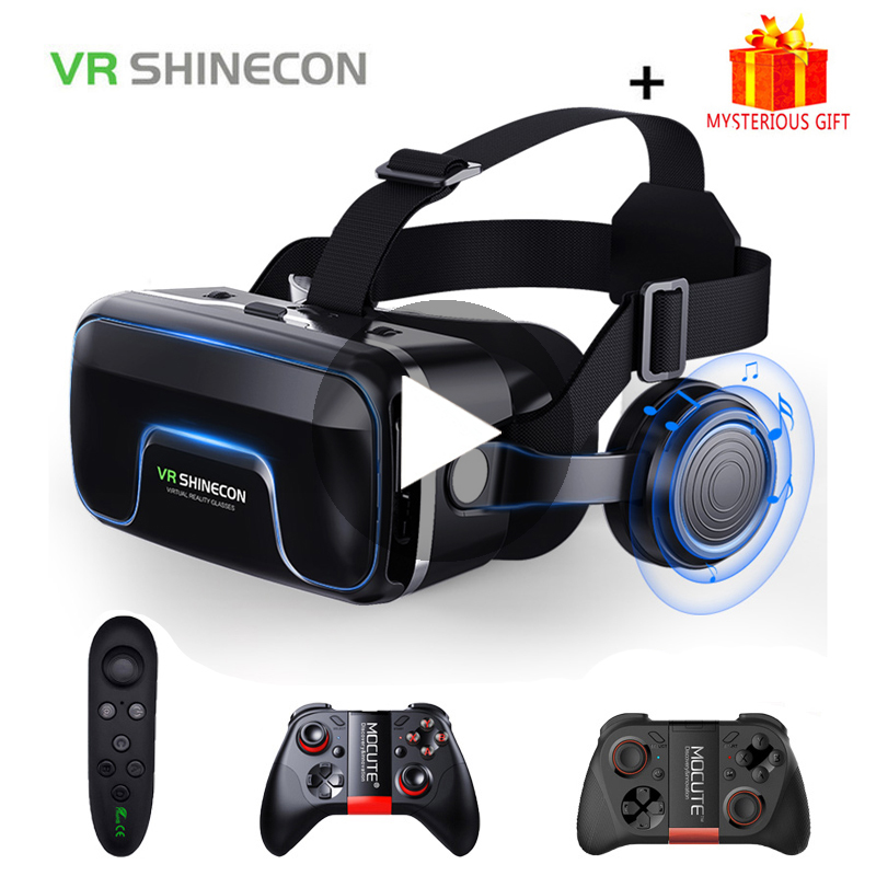 VR Shinecon 10.0 Casque Helmet 3D Glasses Virtual Reality Headset For iPhone Android Smartphone Smart Phone Goggles Lunette Ios|3D Glasses/ Virtual Reality Glasses| - AliExpress