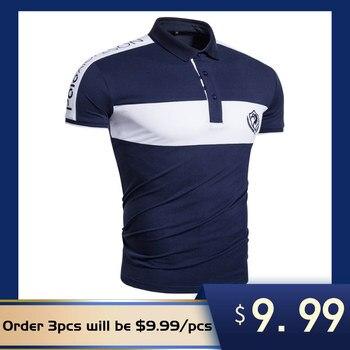 ¡Novedad de 2020! Polo de algodón de marca AIOPESON para hombre, ropa informal de manga corta con diseño de telas combinadas de verano para hombre