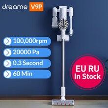 Dreame v9p handheld aspirador de pó sem fio portátil ciclone filtro mais limpo coletor pó para tapete varredura