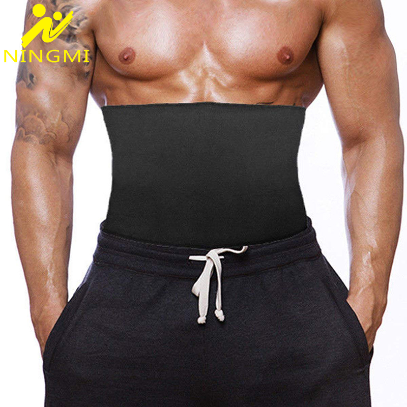 NINGMI-corsé moldeador de neopreno para hombre, entrenador de cintura de adelgazamiento, faja adelgazante, cinturón para vientre
