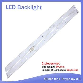 New Kit 10 PCS 66LED 600mm LED backlight strip for Samsung UE55MU6400UXZT S_KU6.4/6.5K_55_SFL70_R66 L66 LM41-00462A LM41-00459A
