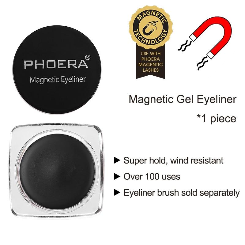 PHOERA Siyah Manyetik Sıvı Eyeliner Jel için Özel Mıknatıs Kirpik Kullanımı Kolay Çok fonksiyonlu Yeniden Kullanılabilir Eyeliner Macun TSLM2