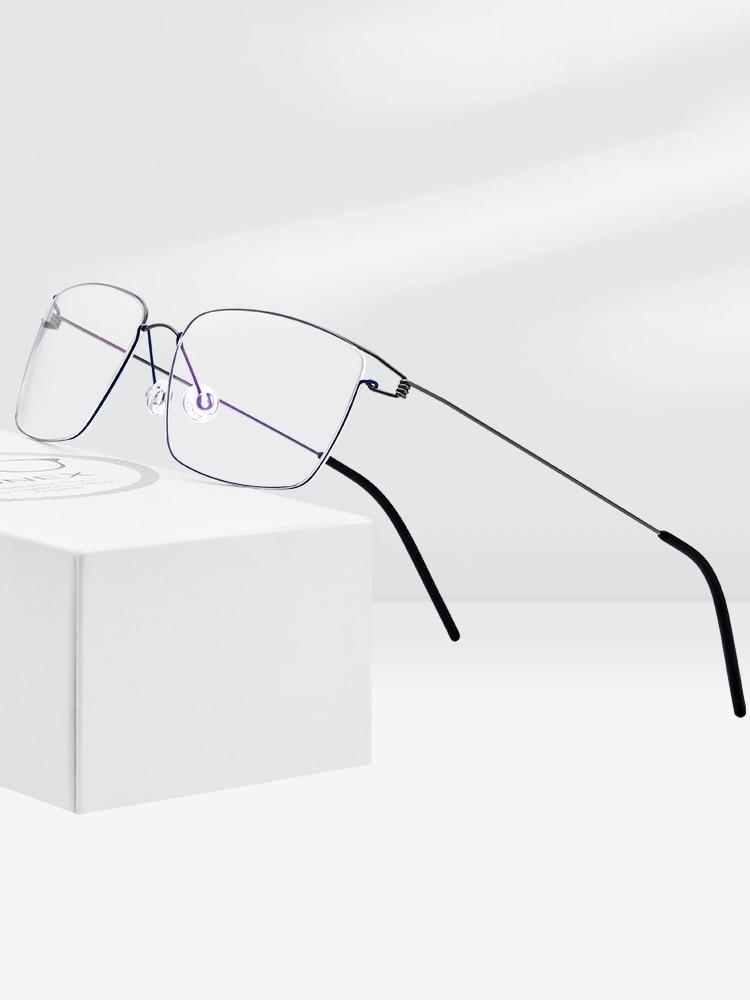 FONEX Prescription Eyeglasses Screwless Eyewear Myopia-Optical Titanium-Alloy Korean