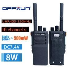 OPX-GD-7 walkie talkie 8w 2800mah uhf16 ch rádio em dois sentidos portátil de longa distância