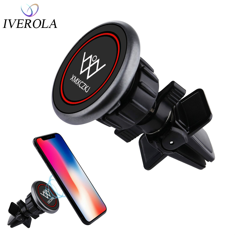 Magnetic Car Phone Holder Air Vent Mount Magnet Smartphone Universal Car Holder Stand For IPhone GPS Dock Mobile Phone Support