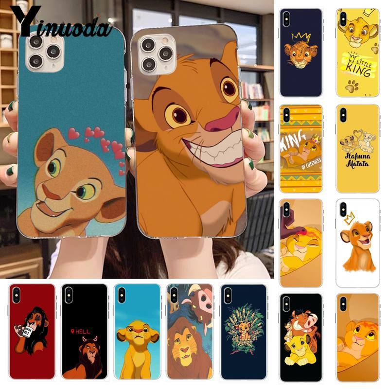 Yinuoda Cartoon babay <font><b>Lion</b></font> King Fitted Coque Shell Phone <font><b>Case</b></font> for <font><b>iPhone</b></font> 11 pro XS MAX 8 7 6 <font><b>6S</b></font> Plus X 5S SE 2020 XR <font><b>case</b></font> image