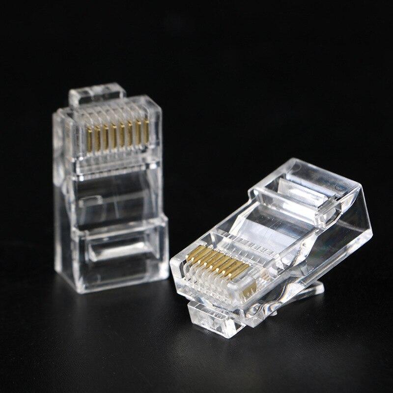 Сетевые модульные щипцы с позолоченным штекером, 20 шт., разъемы для кабеля Ethernet RJ45, CAT5 LAN, Интернет-кафе, компьютеров, роутеры