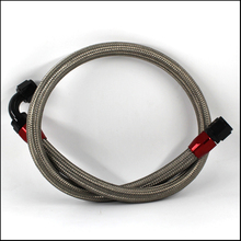1 m AN10 stainless steel braided fuel line +180 ° and 90 ° joint automotive motorcycle 1 8 stainless steel braided ptfe line pu covered fuel line with stainless steel material hexagonal joint
