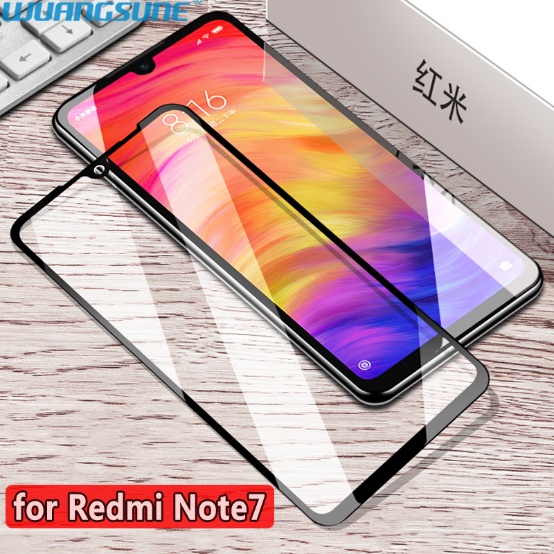 For Xiaomi Redmi Note 7 Pro Tempered Glass Screen Protector Film Fully Glued Without White Edge Full Covered Protective Glass