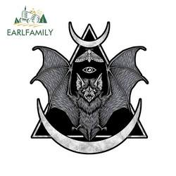 EARLFAMILY 13cm x 11.5cm for Occult Bat Car Stickers Windows Windshield Decal Personality Surfboard Suitcase Car Assessoires