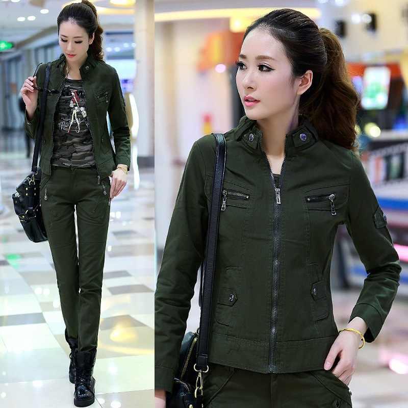 Pantalones Militares Verdes Para Mujer Pantalon Informal Con Multiples Bolsillos Pantalones Cargo De Algodon Pantalones Pantalones Y Pantalones Capri Aliexpress