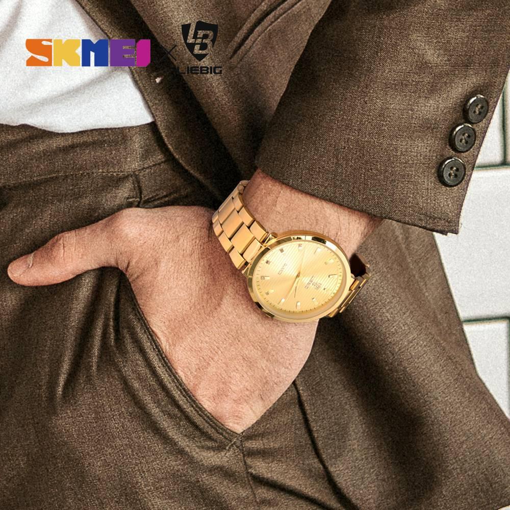 2020 Luxury Golden Quartz Watch Top Brand Steel Bracelet Wrist Watches For Men Women Female Male relogio masculino Clock L1012 2