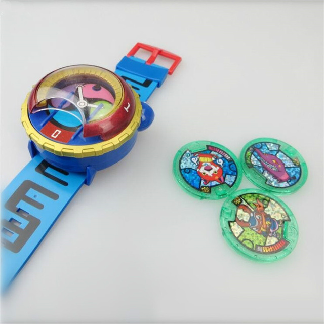 HOT sale 2017 Anime Peripheral Yo-Kai Watch DX Yokai Watch Kids Toy With 3 Medals & Music Educational Toys Best Gifts with light