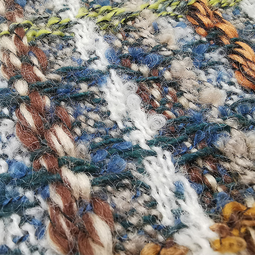 Wool throw blanket travel picnic bedding blanket modern - 4