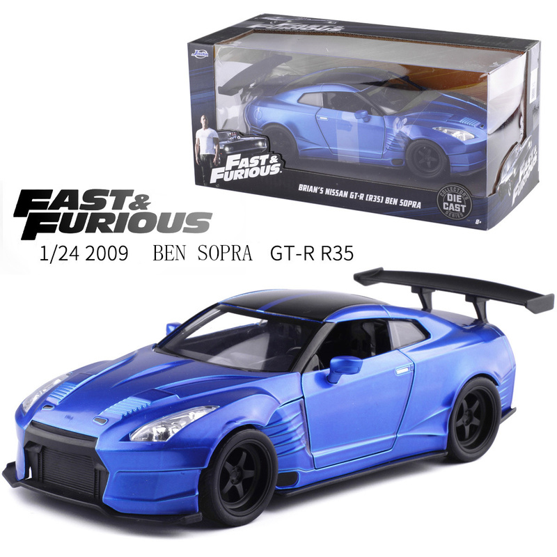 1:24 Scale Fast And Furious Alloy Ben Sopra GT-R35 Car Toys Die-casting Model Boys Diecast Car Toys Series Gifts Toys For Kids