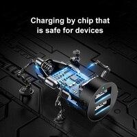 Baseus Car Splitter 12V-24V Dual USB Car Charger 100W Car Cigarette Lighter Socket Splitter Power Adpater For Auto USB HUB