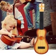21 inch Ukulele Beginner Hawaii 4 String Nylon Strings Guitar Musical Toys for Children Kids Girls Christmas Gift Random