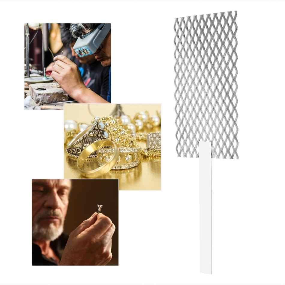 Plating Anode Jewelry Rhodium Palladium Mesh with Handle Platinized Titanium Anode Jewelry Plating Plater Tool