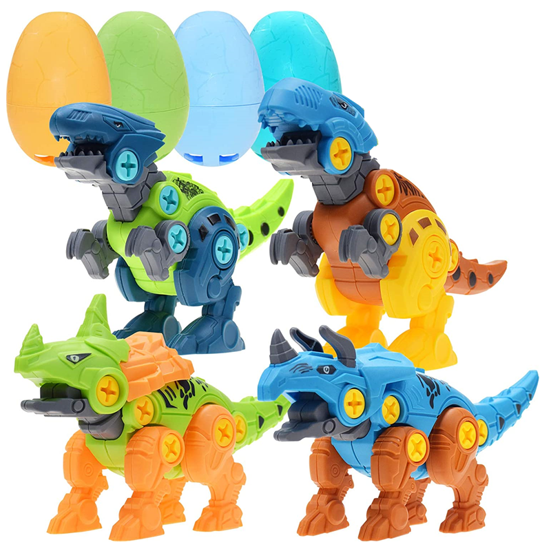 Nut Disassembly And Assembly Dinosaur Toy Dinosaur Easter Eggs Belt Screwdriver Tyrannosaurus DIY Educational Children's Toy