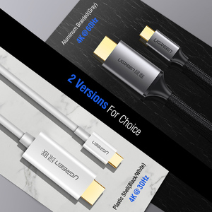 Image 5 - Ugreen USB C HDMI Cable Type C to HDMI Thunderbolt 3 Converter for MacBook Huawei Mate 30 Pro USB C HDMI Adapter USB Type C HDMI