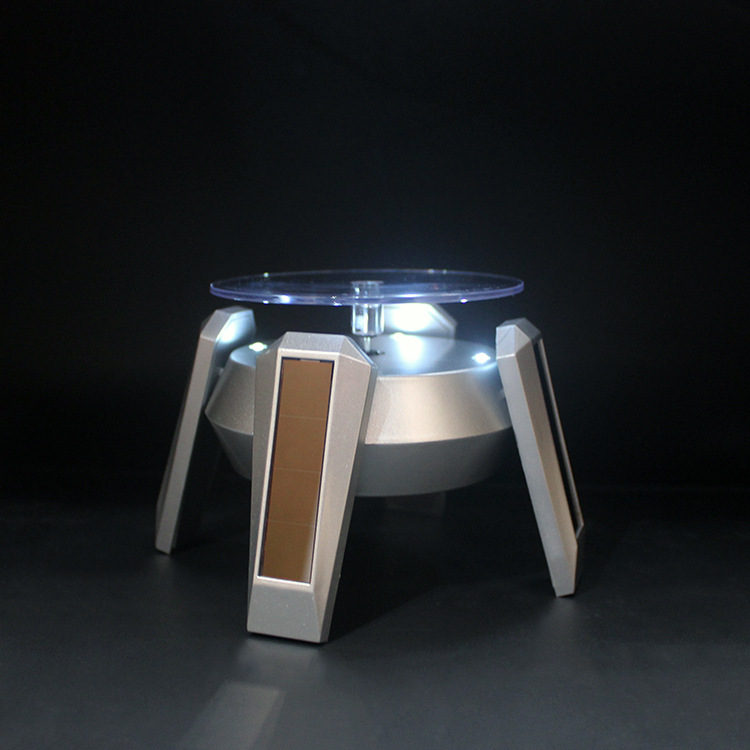 Manufacturers Direct Selling Solar Display Stand Rotating Table Jewelry Watch Mobile Phone Jade Bracelet Show Case