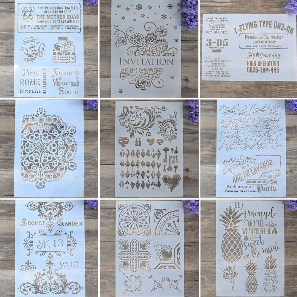 DIY Craft Layering Stencils Template For Walls Painting Scrapbooking Stamping Tableau Decoration