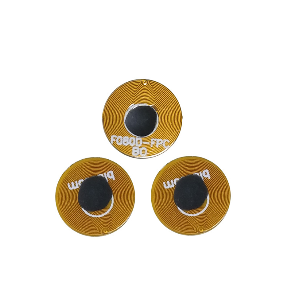 144 Bytes 13.56MHZ Diameter 8mm FPC Anti Metal NFC Microcircuits Ntag213 Nail Tag Micro RFID Sticker With Tape on the Back