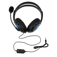 цена на Wireless Stereo Headphones Over Ear Wired Bilateral Gaming Headset with Microphone Compatible for PS4 PC