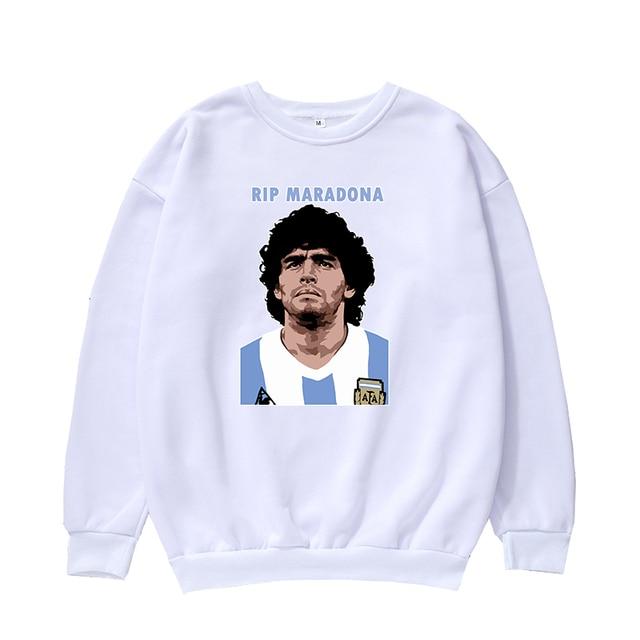 Felpa Diego Armando Maradona blu 10 napoli el pibe de oro