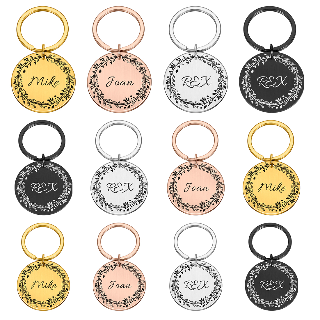 Personalized Dog Cat Pet ID Tags  Engraved Cat Puppy  Pet ID Name Number Address Collar Tag Pendant Pet Accessories