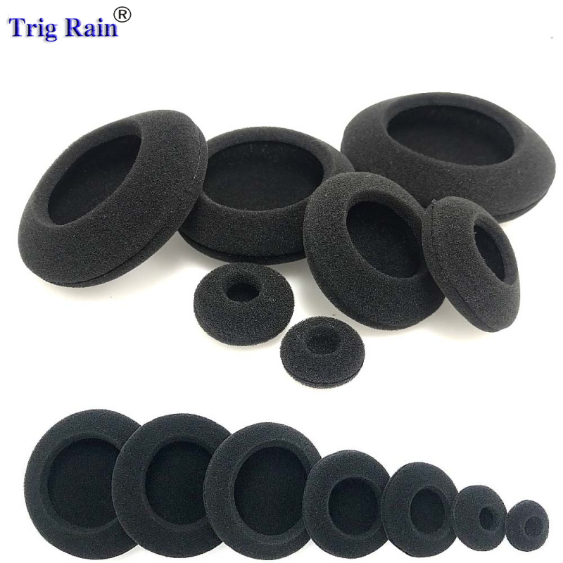 Foam Ear Pads For Headphones 35mm 40mm 50mm 55mm 60mm 80mm Thicken Big Ear Pad Foam Earbud Sponge Covers Headphone 2pcs/pair