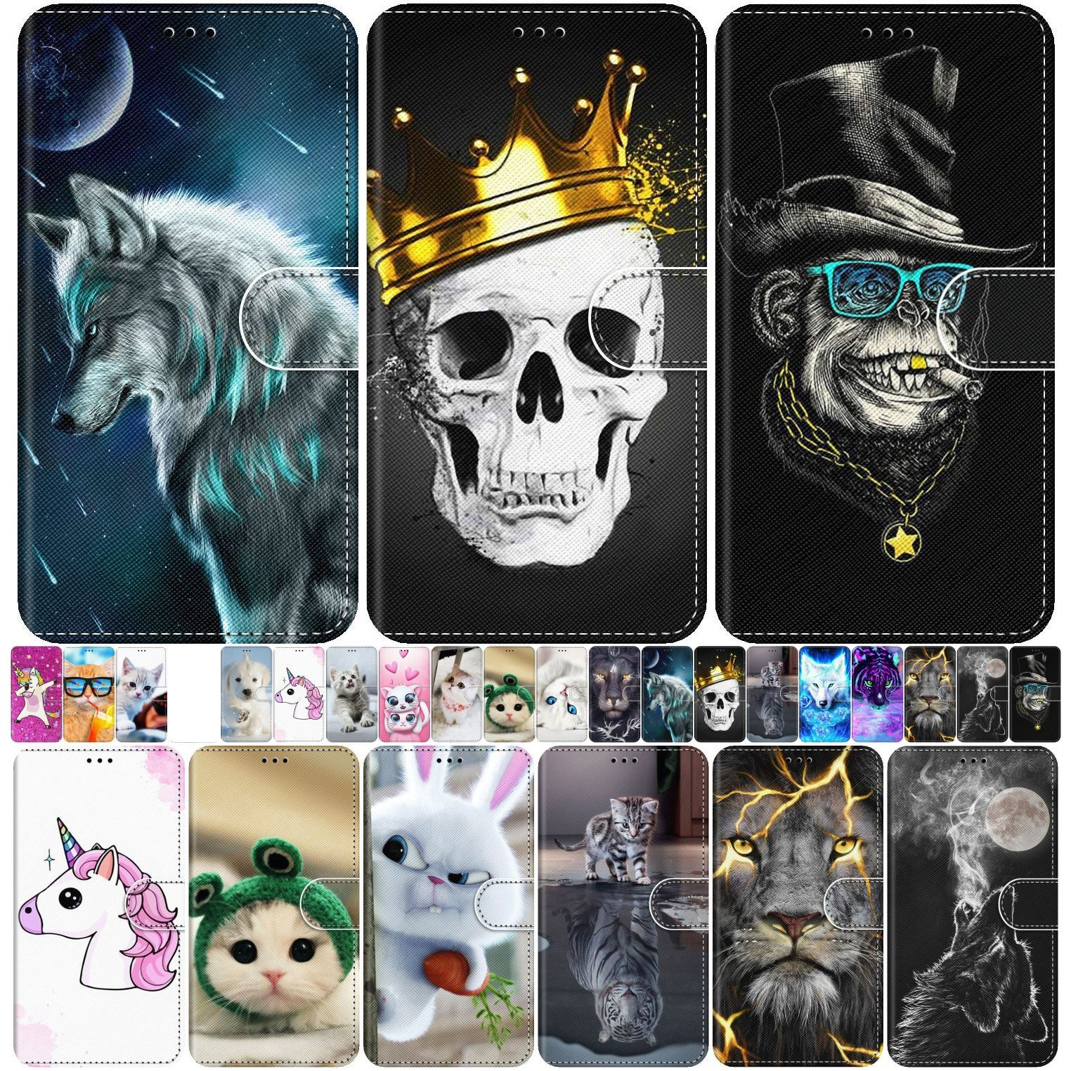 Cute Animal Box <font><b>Flip</b></font> Leather Case For <font><b>Cover</b></font> <font><b>Samsung</b></font> Galaxy A3 2015 A5 2016 A6 A7 <font><b>A8</b></font> 2018 A9 Star Pro A750 A530 A520 A510 S5 P08F image