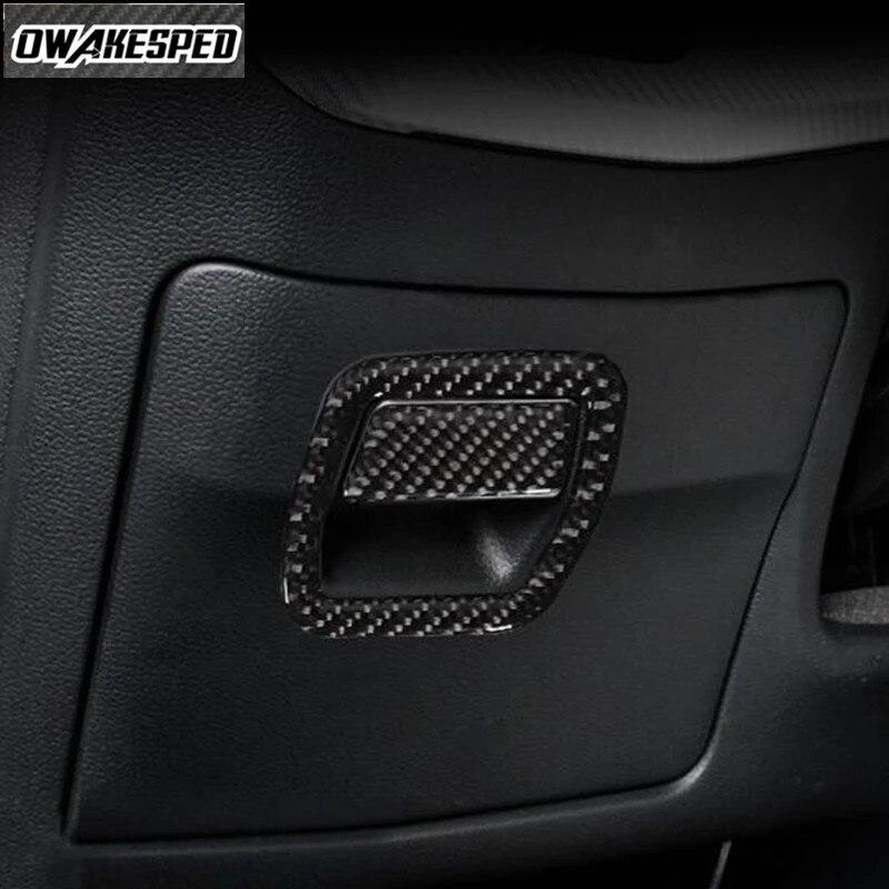 Для Audi A4 B9 2017-2019 LHD Углеродные волоконные наклейки стайлинга автомобилей главным фактором для хранения с ручкой на заказ рамка украшения Сти...