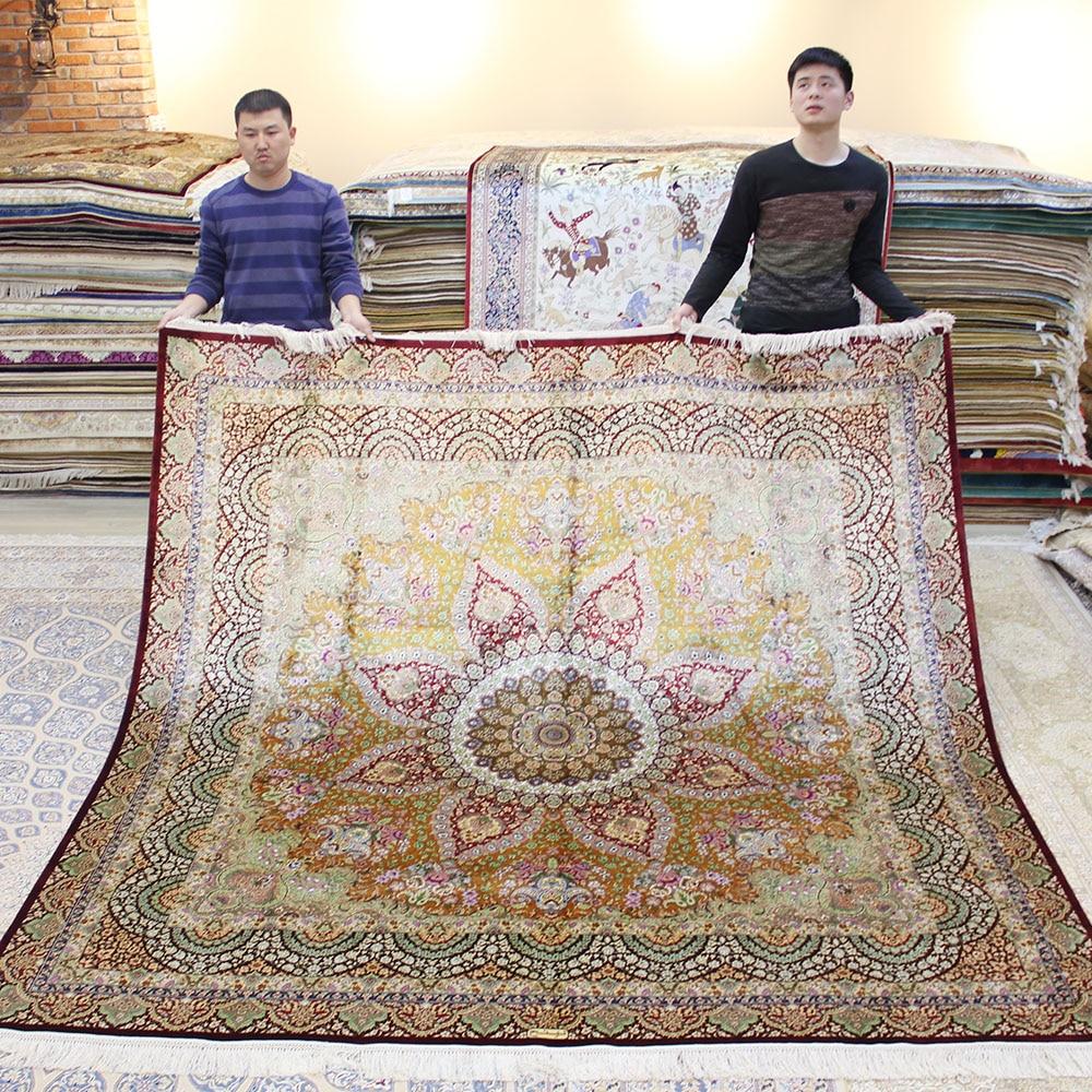 yilong 8 x8 square persian silk rug handmade exquisite oriental silk home carpet tj066a 8x8