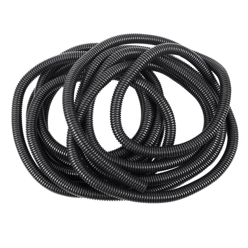 "4 Roll 100 Ft 1//2/"" Split Wire Loom Conduit Polyethylene Tubing Black Sleeve Tube"